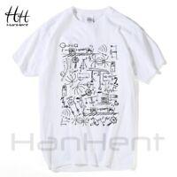 Physics T-shirts Men Creative Casual Tshirt Short Sleeve Tee shirt Math Cotton T