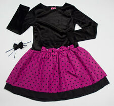 WHAT A DOLL GIRLS 10 12 DRESS DROP WAIST POLKA DOTS  SPECIAL OCCASION PORTRAIT