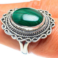 Malachite 925 Sterling Silver Ring Size 8 Ana Co Jewelry R59154F