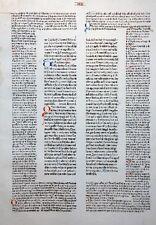 SELTENES INKUNABEL BLATT DECRETALES CUM GLOSSA GREGORIUS IX. SCHÖFFER MAINZ 1473
