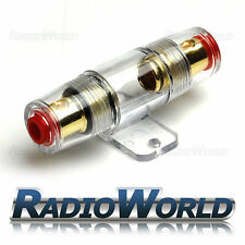 Water Resistant Glass AGU Fuse Holder Fuseholder Car Amplifier 12v 4WG / 8AWG