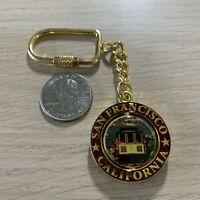 San Francisco California Street Car Travel Souvenir Spinner Keychain Key Ring