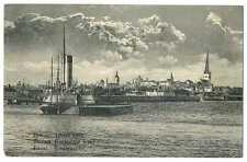 "Russian Imperial Town General View Revel with Icebreaker ""Ermak"" PC"
