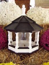 Vinyl Bird Feeder Amish Homemade Handmade Handcrafted White / Black Lg