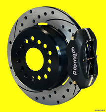 Wilwood Rear Disc Brake Kit Big Ford 9 in Black Drilled Slotted Dynalite *