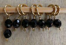 Stitch marker, knitting or crochetting 6+1 black & gold