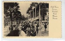 CLUB HOUSE TERRACE, HIALEAH PARK, MIAMI: Florida USA postcard (C20740)