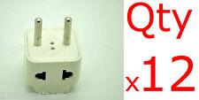 Plug Adapter 2 In 1 - 12PK- Asia Europe Adapter - Universal Input - 2 Sockets