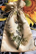 Antique Chinese Qing Dynasty Hand Embroidery Purse
