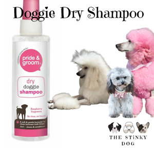 Dry Shampoo Dogs Pets Pride & Groom Cleans No Rinse Grooming Odour Neutraliser