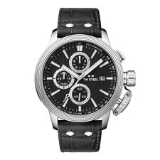 TW Steel CEO Adesso Chronograph Black Leather 48mm watch