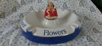 Large Vintage Flowers Brewery Ashtray, Hand Painted,Wonderful condition