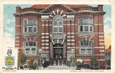 Wigan Greater Manchester England UK~New Council Offices~Men on Steps~1913 PC