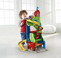 Fisher-Price Toy Racing Cars Set Kids  Little People City Skyway Garage Disney