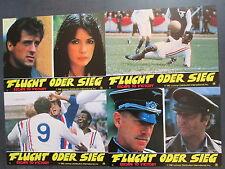 FLUCHT ODER SIEG - 18 Aushangfotos - Sylvester Stallone, Pele, Michael Caine