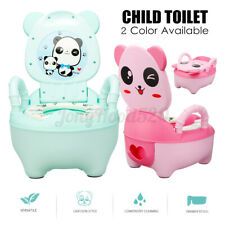 Panda Baby Toddler Kids Potty Training Toilet Seat Bathroom Trainer with Handle