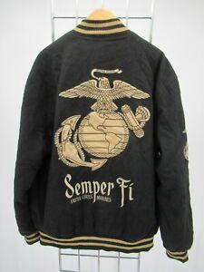 I9895 VTG United States Marine Corps USMC Varsity Jacket Size M