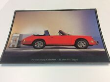 1967 Porsche 911 Targa Postcard - Advertising