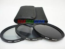 58mm 58 neutral density ND2 ND4 ND8 ND 2 4 8 filter kit set for Canon Nikon Sony