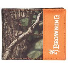 Browning Mossy Oak Camuflaje Lona Plegable Cartera - Blaze Naranja,