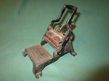Vintage Cast Iron Business Card Printing Press w/ Gold Stencil, Counter Desk Top