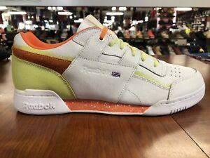 *NEW* Reebok Workout Plus Montana Men's Size White/Orange/Pastel CN6333 *NEW*