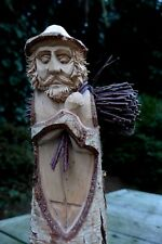 Wooden Figure Hand Carved Statue Figurine Sculpture Ornament Home Cottage Art