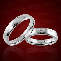 2 Trauringe Silber 925 mit Gravur+Etui Eheringe Verlobungsringe Ringe pr27t