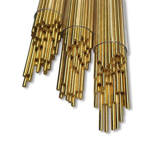 100pc Ø0.3-Ø2.5X400mm EDM Drilling Electrode Single-hole Brass Tube High Quality
