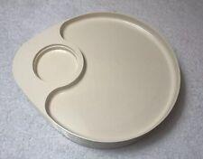 Vintage Sterlite Plastic Divided Plate Cup Holder Picnic BBQ Set 4