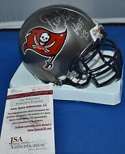 WARREN SAPP SIGNED CUSTOM FACEMASK MINI HELMET TAMPA BAY BUCCANEERS HOF 2013 JSA