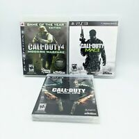 Call Of Duty Black Ops, Modern Warfare/MW3 (PlayStation/PS3) 3 Game lot - CIB