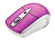 Trust USB Mouse 3 Button Scroll Tilt Laser Optical PC Laptop Mac Computer Pink