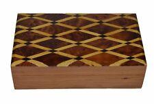 Moroccan Wood Box Handmade Inlaid Thuya Thuja Burl Jewelry Coin Box Decorative