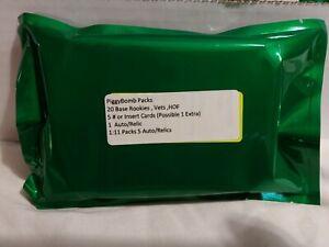 Piggybomb Pack NFL Football Repacks 26 Cards Guarantee Auto/Relic Hit !