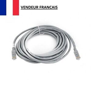 Câble Réseau Ethernet RJ45 5M CAT Routeur Modem Ordinateur PC Box Internet