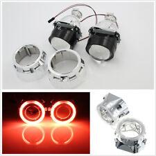 "2 Pcs 2.5"" Bi-Xenon Red Angel Eyes Mini HID Car H1/H4/H7 Headlamp Conversion Kit"