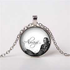Severus Snape, Always, Harry Potter Cabochon, Pendant, Necklace, Geekery Gift