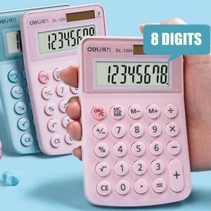 Cartoon Mini Calculator 8 Digits Display Dual Power Supply Cute Candy Calculator