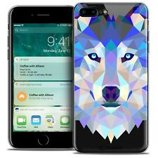 "Coque TPU Gel Pour iPhone 7 Plus (5.5"") Polygon Animal Souple Fin Loup"