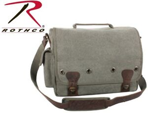 Olive Drab Tactical Military Trailblazer Laptop Bag With Leather Accents 9239