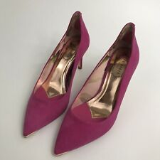 Ted Baker Womens Heeled Shoes - Pink Suede Metallic Detail - UK 3 UK 4 -RRP £125