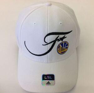 Golden State Warriors 2016 NBA finals  Adidas White Flexfit Hat S/M