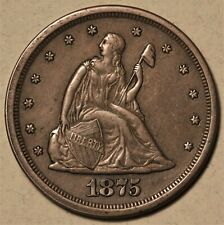 1875-S 20-cent Piece Choice XF++ Fully Original Appeal, Never Cleaned No Reserve