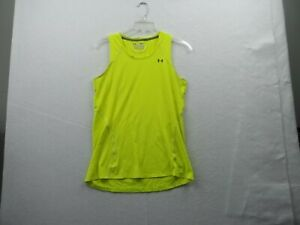 Under Armour Heat Gear Womens Bright Yellow Top Size Small Petite, Ex Cond!