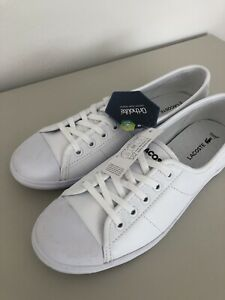 Lacoste Ziane Chunky White Leather Shoes Size 6