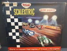 Scalextric Set CM34, brillante conjunto completo y gran condición, caja tiene problemas