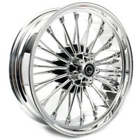 Chrome Fat Spoke Rear Wheel Rim 18x5.5 for Harley Dyna Street Bob Softail Fatboy