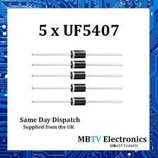 5 x UF5407 diodi 800 V 3Amp 2-Pin DO-2 Soft RECUPERO ultraveloci RADDRIZZATORE IN PLASTICA