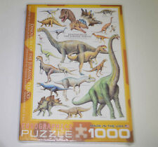 Puzzle DINOSAURS OF THE JURASSIC PERIOD 1000 Piece New Sealed Eurographics